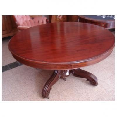 Table Ovale En Acajou.