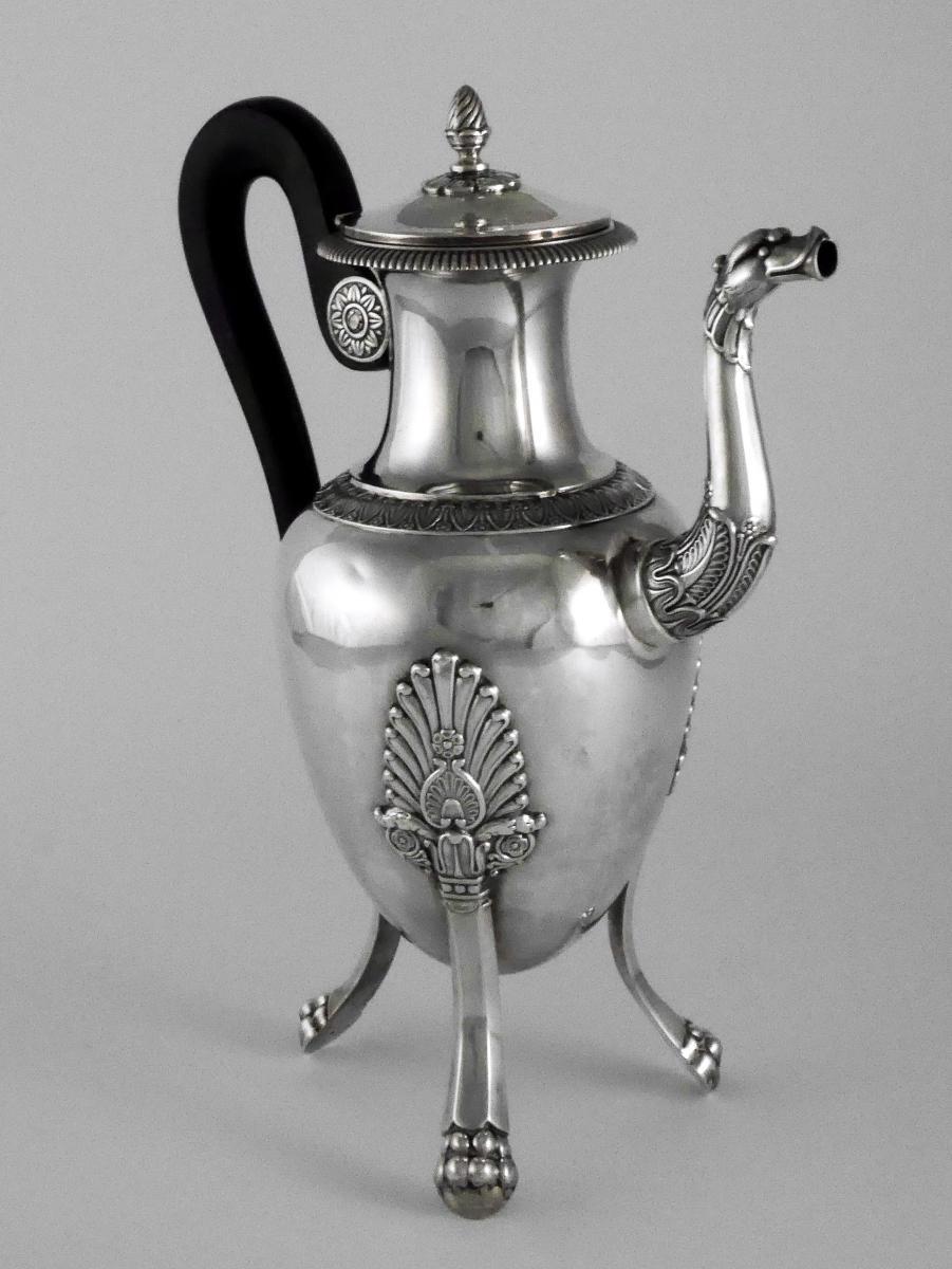 Cafétière En Argent d'époque Empire, XIXe