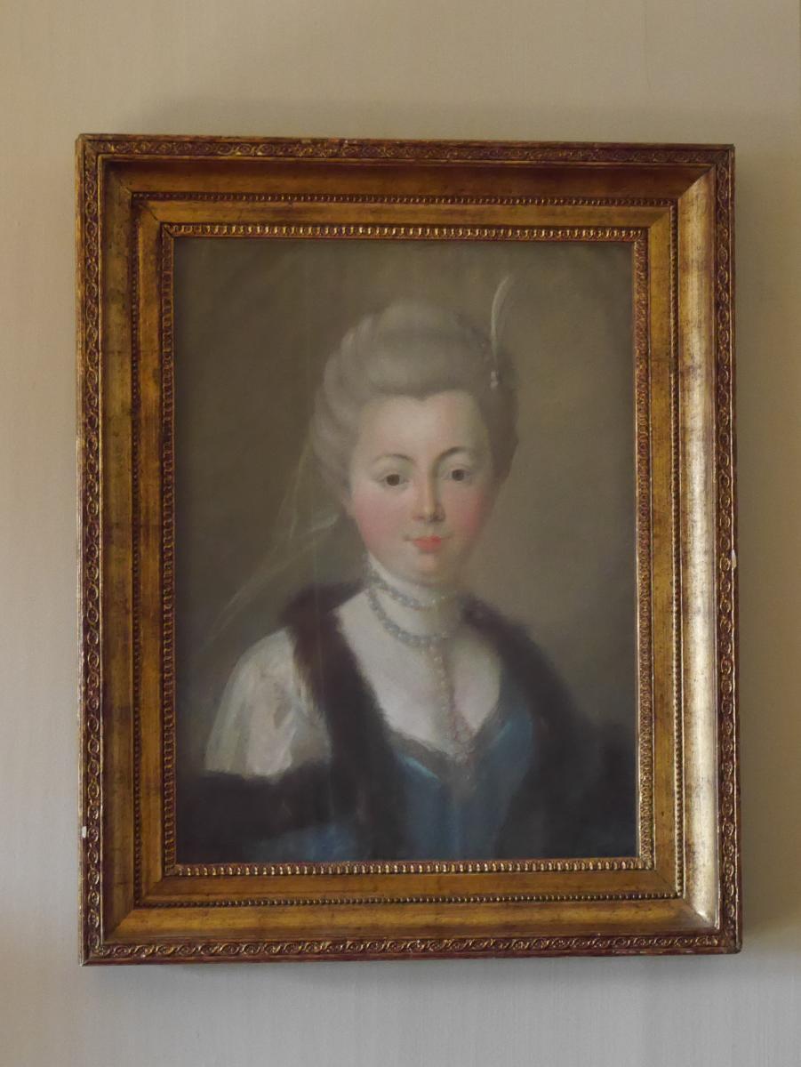 Portrait d'Une élégante, XVIIIe Siècle