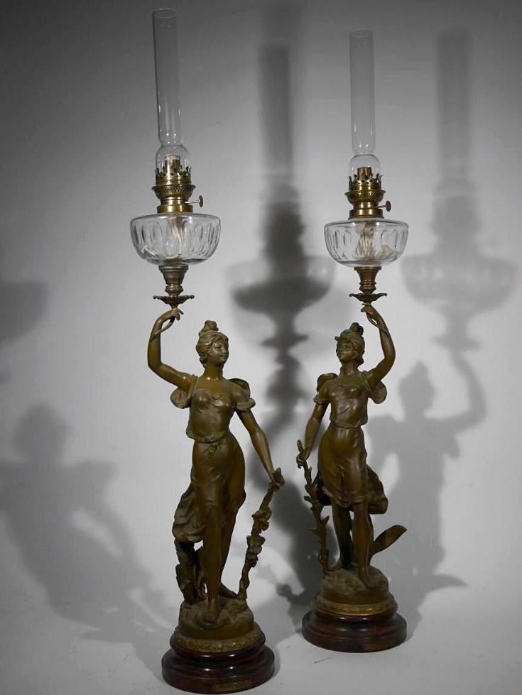 Pair Of Large Art Nouveau Flares