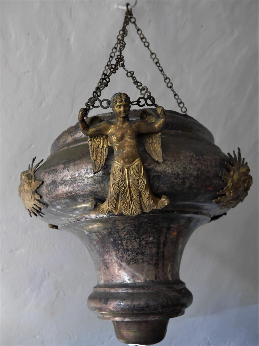 Lampe d'église De Style Empire d'époque Restauration, Début XIXe
