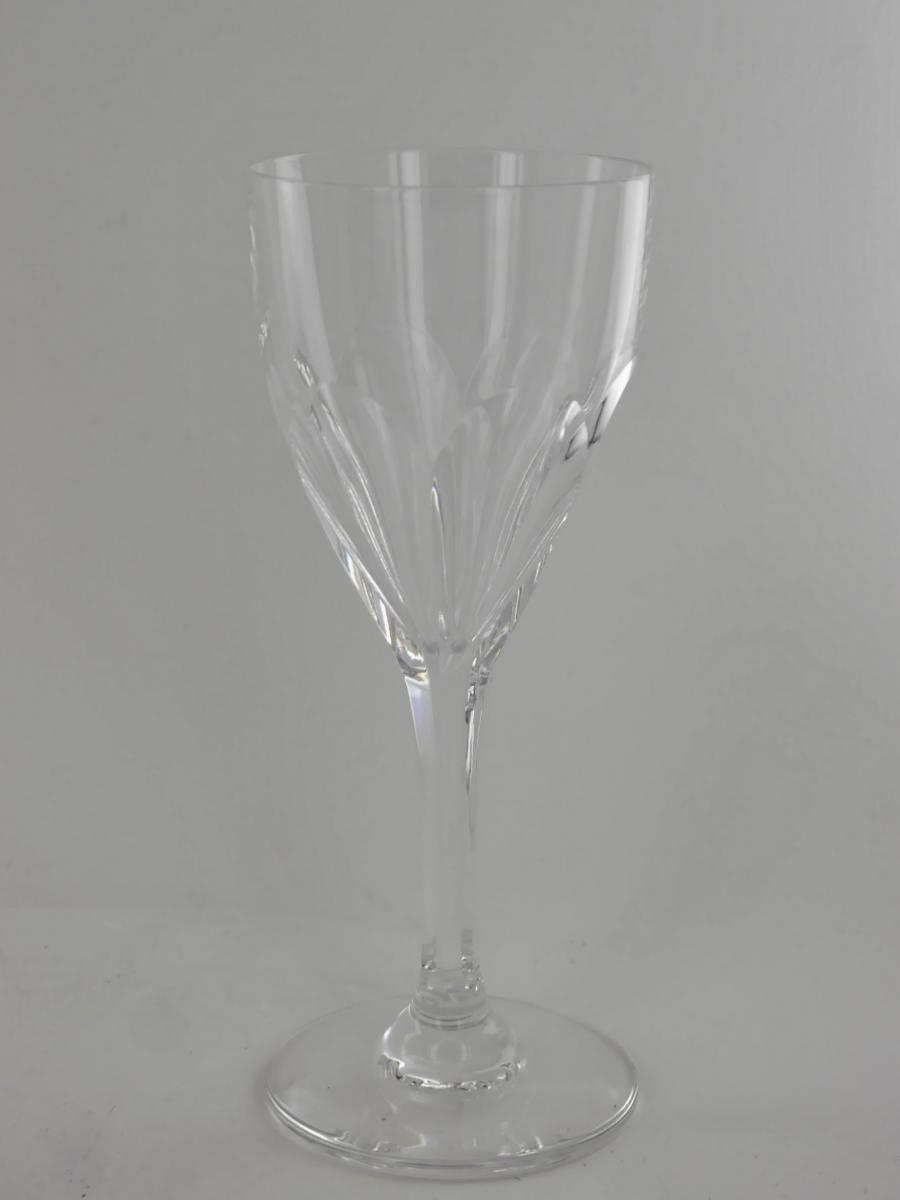 6 Verres à Vin Blanc, Cristal St Louis, Modèle Bristol