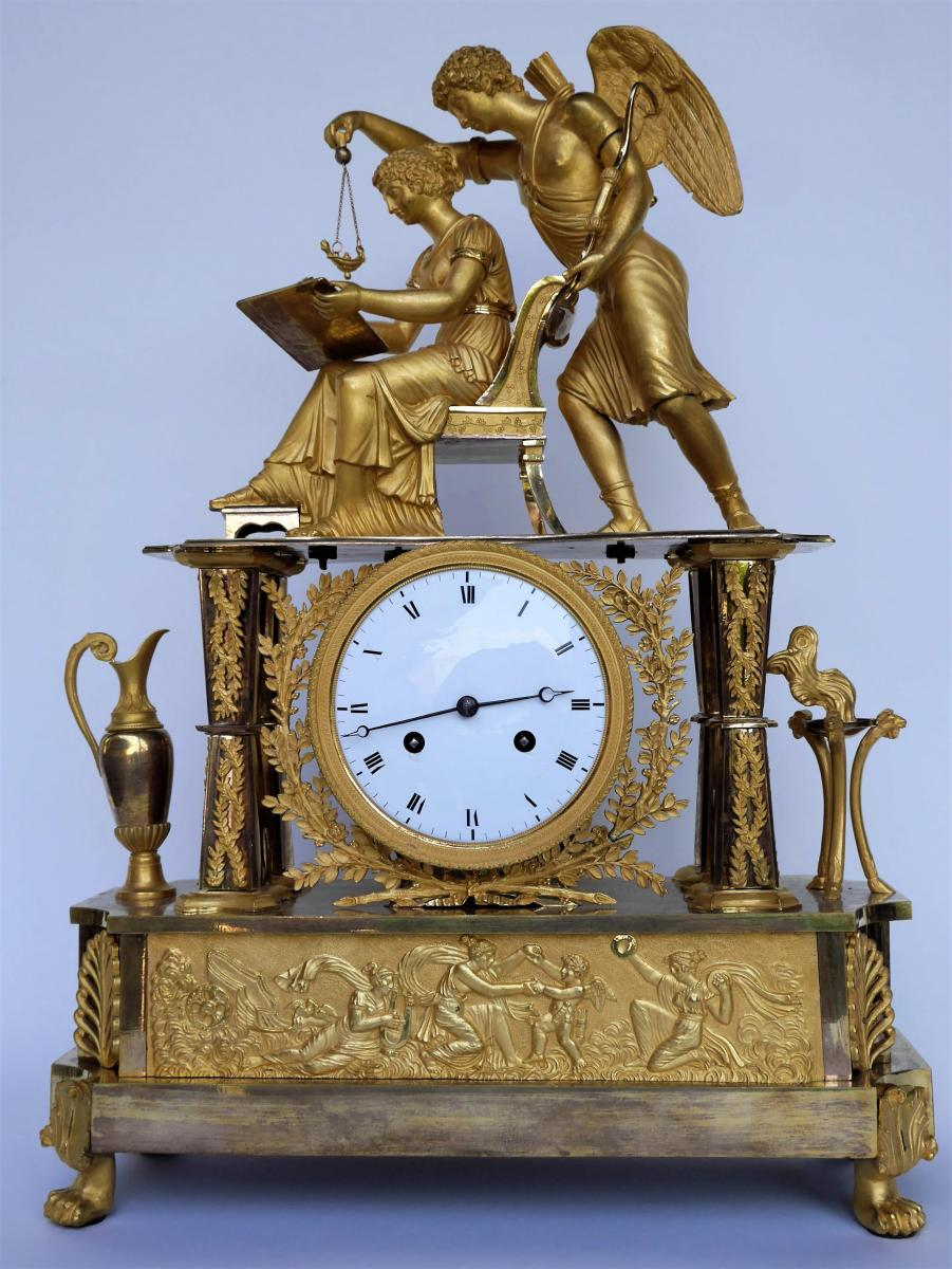 """Empire Clock """"the Inspiration"""", Early 19th Century"""