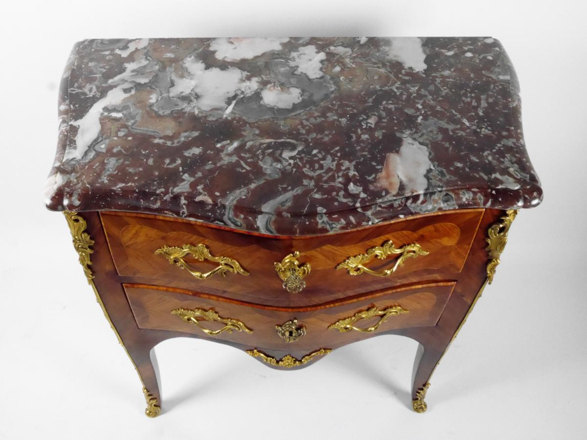 Chest Of Drawers Stamped By P. Roussel, Louis XV, 18th Century