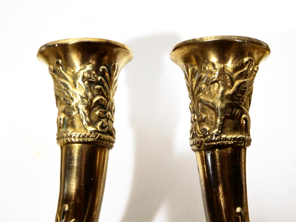 Pair Of Bronze Sconces By Claude Galle-photo-4