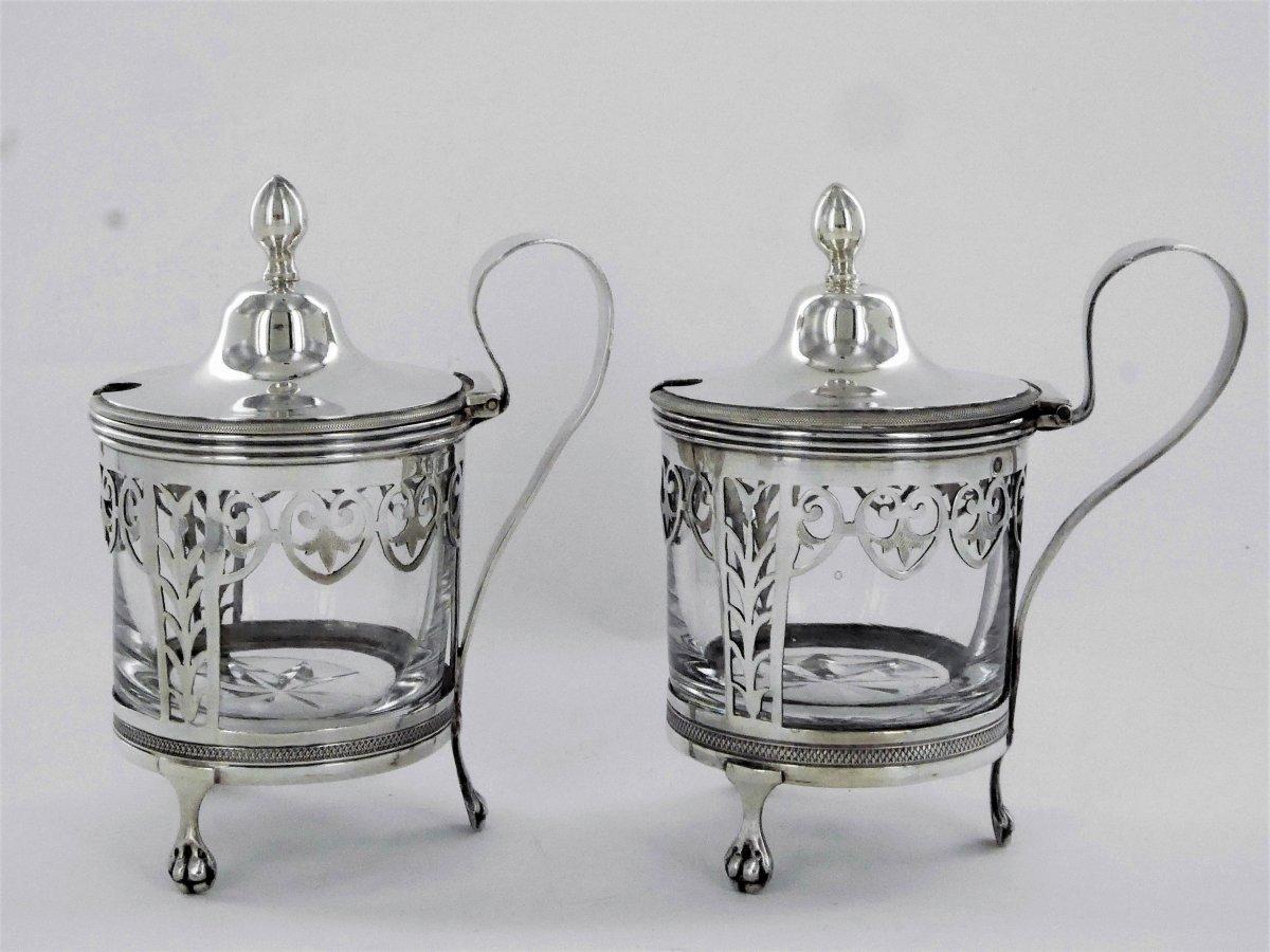 Pair Of Empire Mustard Pots, Early 19th Century-photo-2