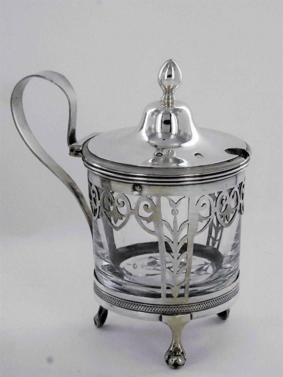 Pair Of Empire Mustard Pots, Early 19th Century-photo-4