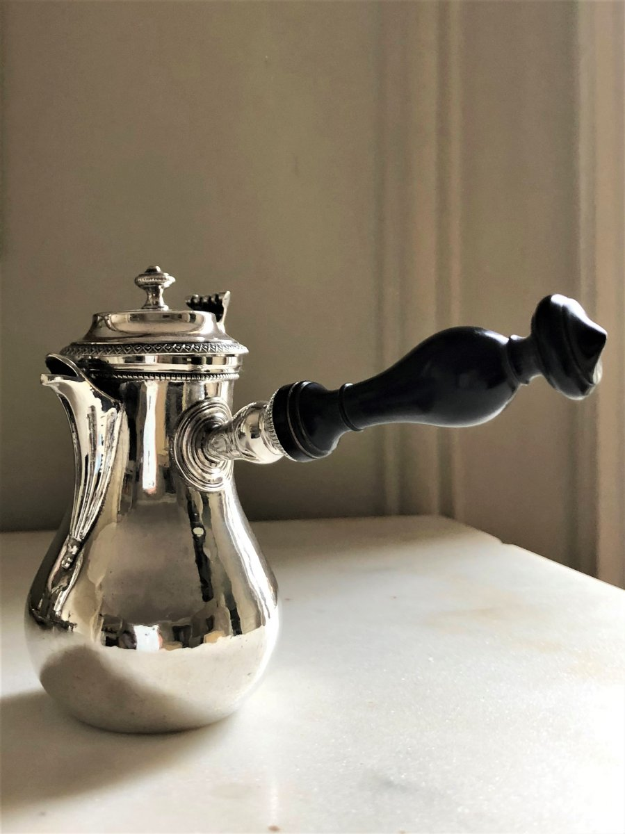 Small Silver Marabout Coffee Or Hot Chocolate Pot, Early 19th Century