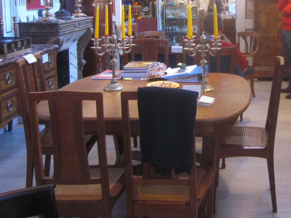 Salle manger art nouveau desserte 6 chaises table en forme de tulipe - Chaise tulipe a vendre ...