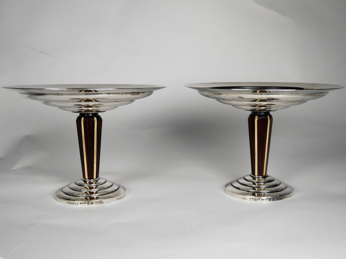 Pair Of Art Deco Cups, Ercuis, 20th Century