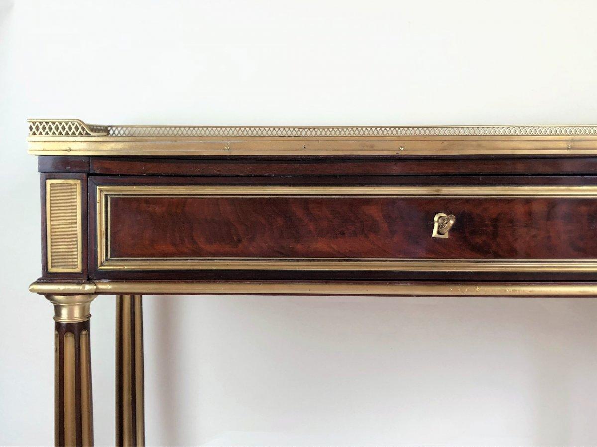 Console En Acajou Et Citronnier d'époque Louis XVI Par Bernard Molitor, Fin XVIIIe