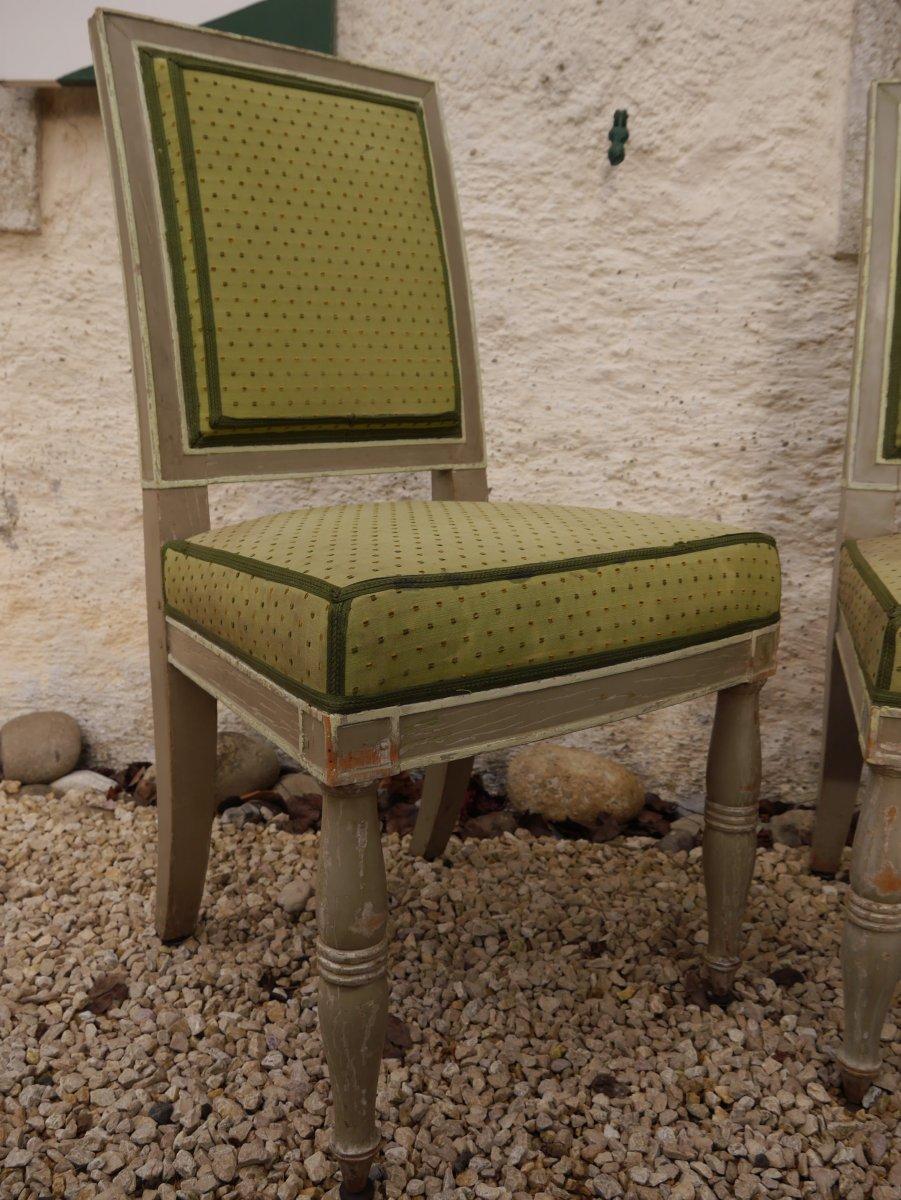 Suite De 4 Chaises Estampillées De Demay, Début XIXe Siècle-photo-3