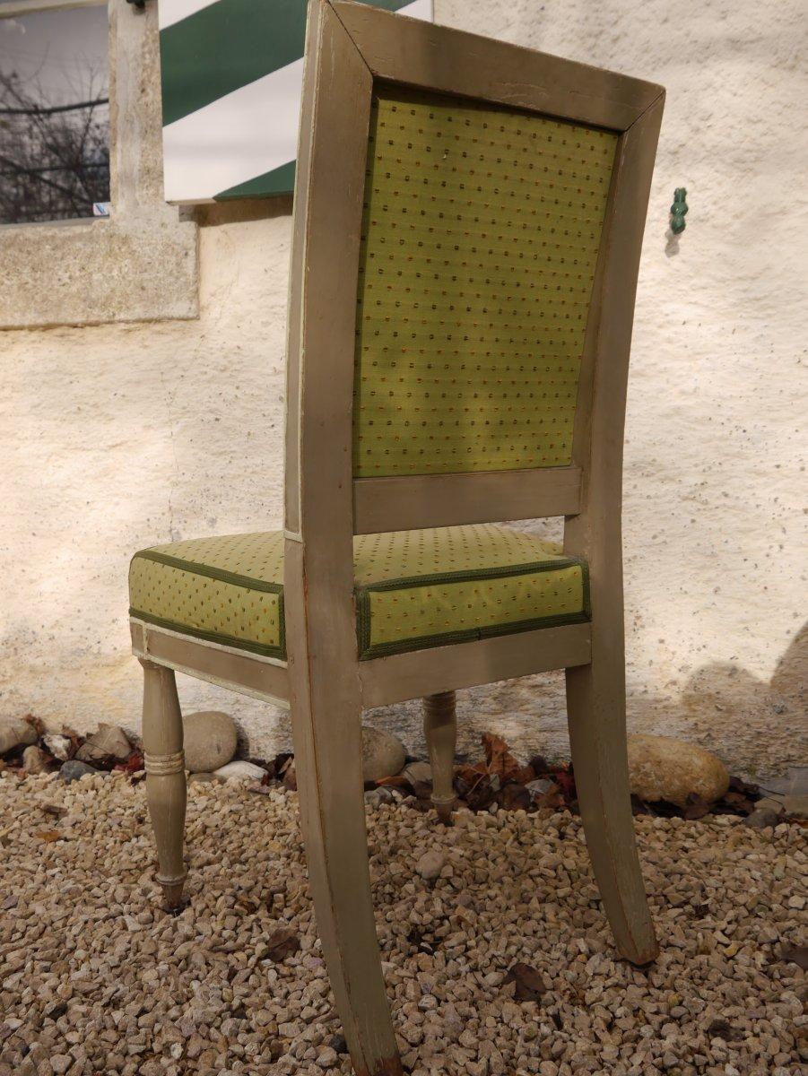 Suite De 4 Chaises Estampillées De Demay, Début XIXe Siècle-photo-4