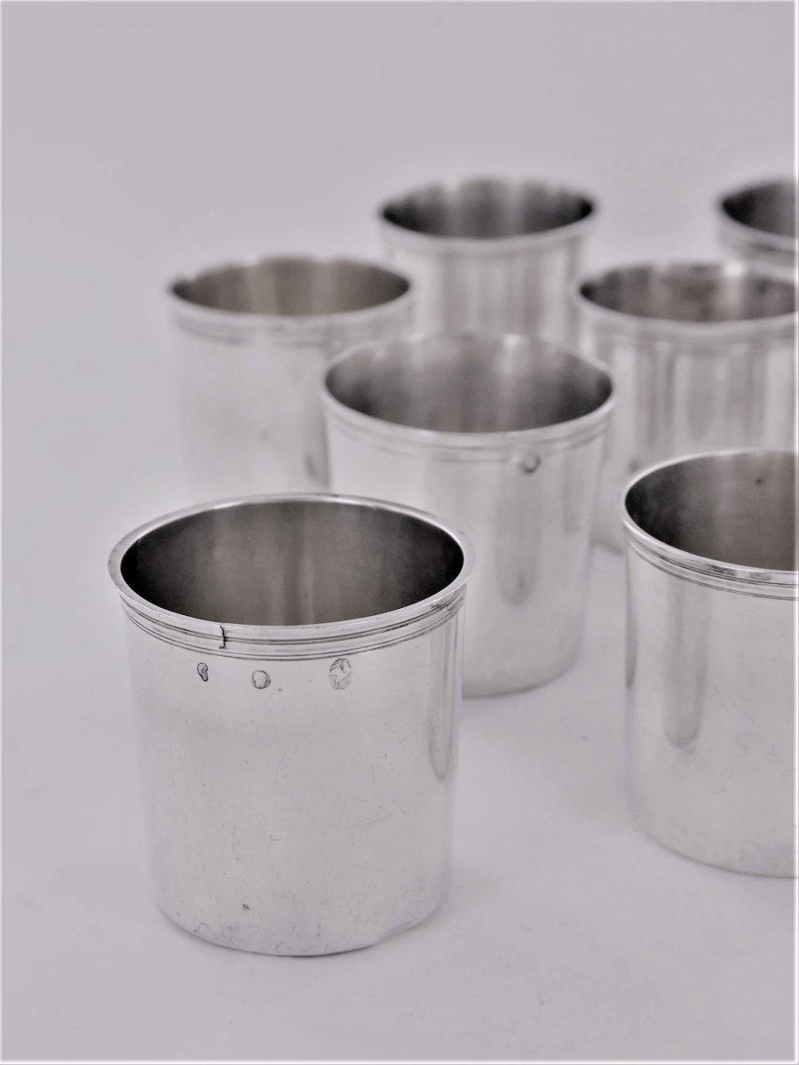 Suite De 10 Gobelets à Liqueur d'époque Empire, Début XIXe-photo-2