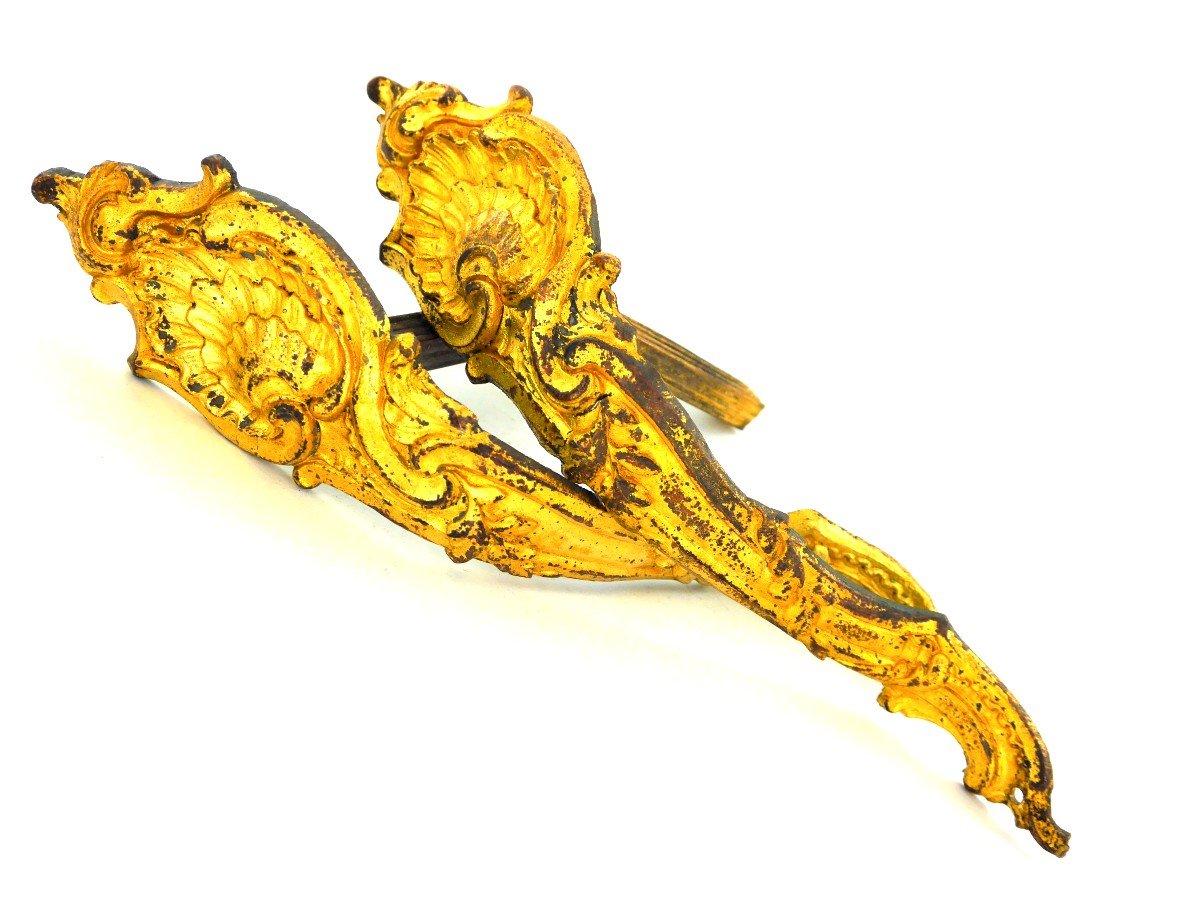Pair Of Hooks For Tiebacks, Louis XV Style, 19th Century