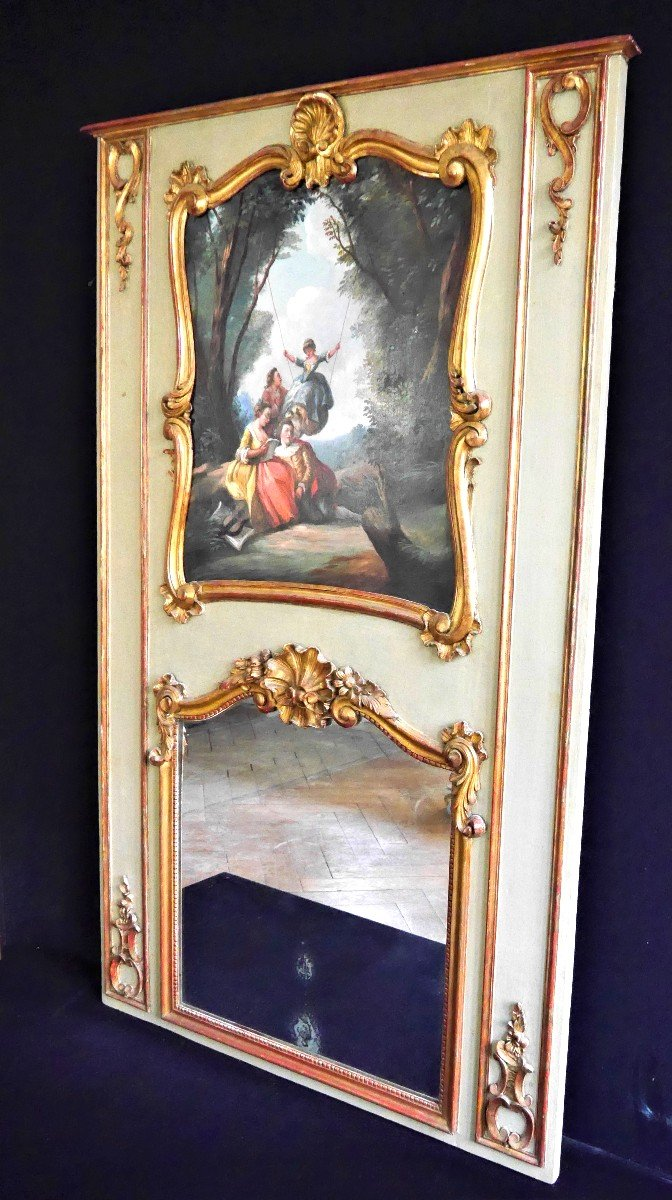 Trumeau d'époque Louis XV, XVIIIe Siècle