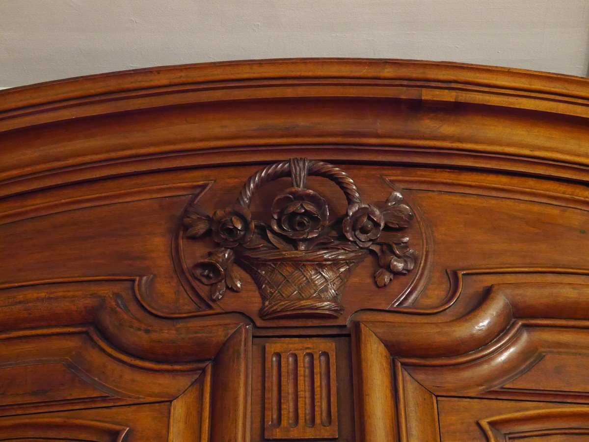 Grande Armoire En Noyer, XVIIIe Siècle-photo-2