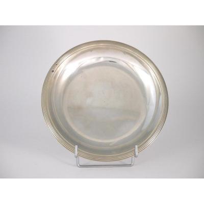 Assiette Creuse En Argent Massif, époque Restauration, XIXème