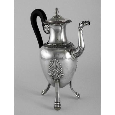 Coffee Maker In Silver, Empire Period, 19th Century