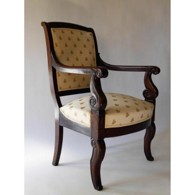 Mahogany Armchair Of Louis-philippe Period, 19th Century