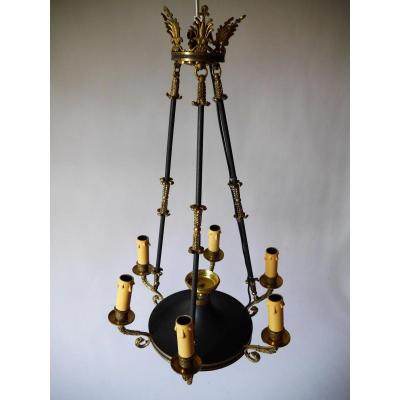 Chandelier Of The Empire Style, 19th Century