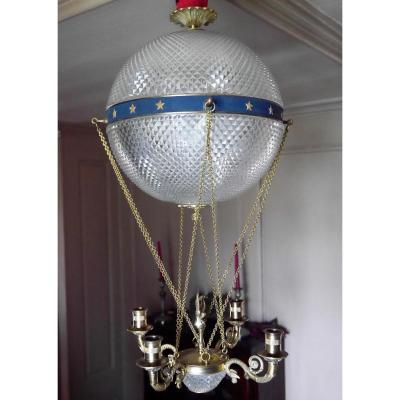 Lustre Montgolfière de style Empire, XIXe