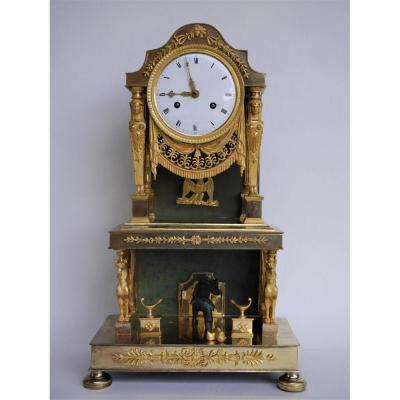 Pendule d'époque Consulat, Début XIXe Siècle