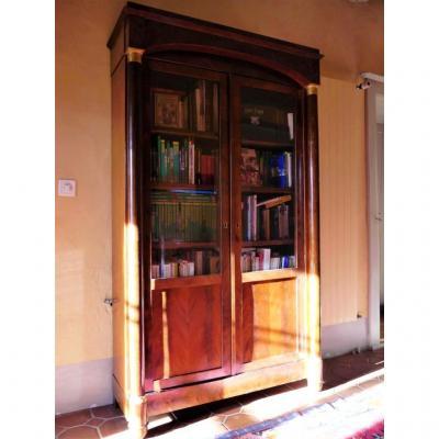 Bibliothèque En Acajou De Style Empire, XIXe Siècle