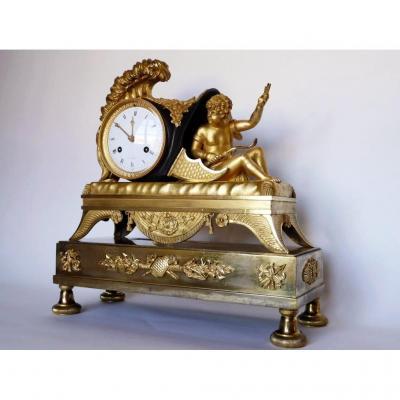 Pendule à l'Eros d'époque Empire, Début XIXe