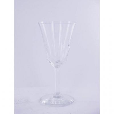 18 Verres à Vin Blanc, Cristal St Louis, Modèle Cerdagne