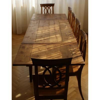 Table De Cuisine En Frêne, XIXe