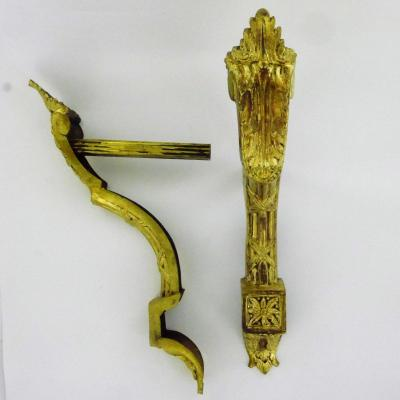 A Pair Of Louis XVI Style Hooks In Gilt Copper