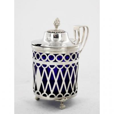 Mustard Pot In Silver, End Of The 18th Century