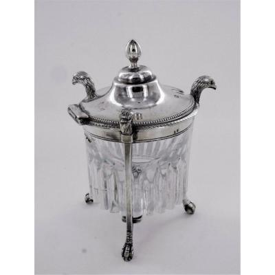 Mustard Pot In Silver, Late 18th - Early 19th Century