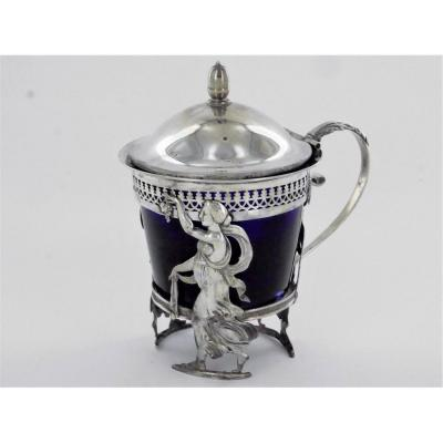 Mustard Pot In Silver, Early 19th Century
