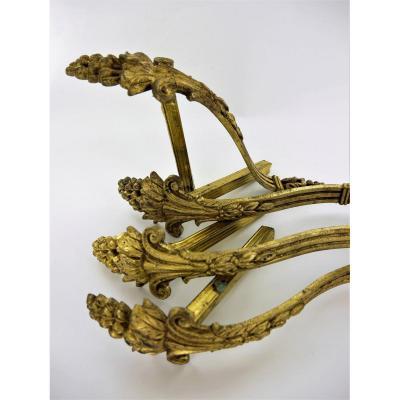 Suite Of 4 Louis XVI Style Hooks For Tiebacks