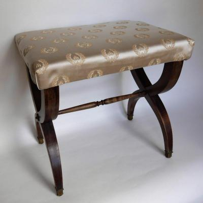 Stool In Mahogany, End Of The 19th Century