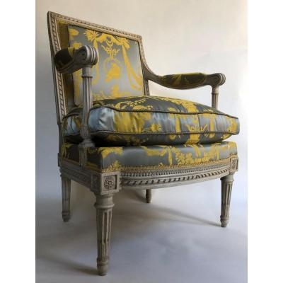 Louis XVI Armchair By Georges Jacob, From Tuileries Palace