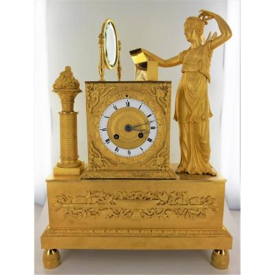 Gilt Bronze Clock, Early 19th Century