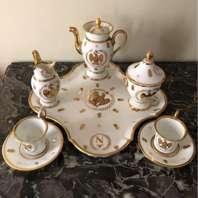 Partie De Service En Porcelaine De Style Empire, XIXe