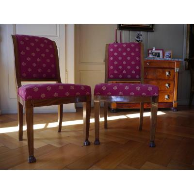 Pair Of Empire Period Chairs