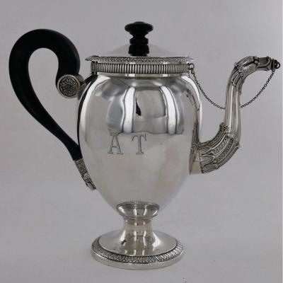 Small Empire Silver Teapot