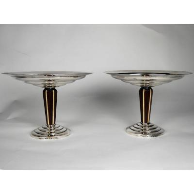 Pair Of Art Deco Cups, Ercuis, 20th Century