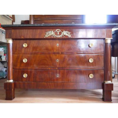 Empire Period Chest Of Drawers In Mahogany From Cuba