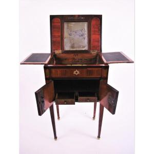 Small Dressing Table, Louis XVI Period, Stamped By Nicolas Petit, 18th Century
