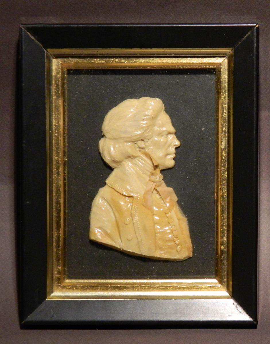 Wax Profile Of Beethoven By Leslie Ray, Early XXth C.