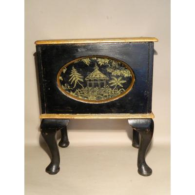Small Chest On Foot In Victorian Wood