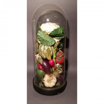 Vegetables Under Glass Dome