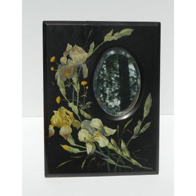 Miroir Peint En Bois De Spa