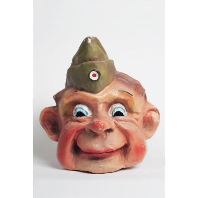Grand Masque De Carnaval Ancien d'Un Soldat Anglais